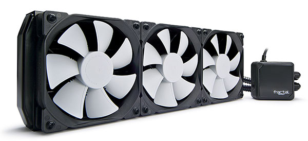 The Kelvin S36 cooler is the largest of the series. (Image Source: Fractal Design)