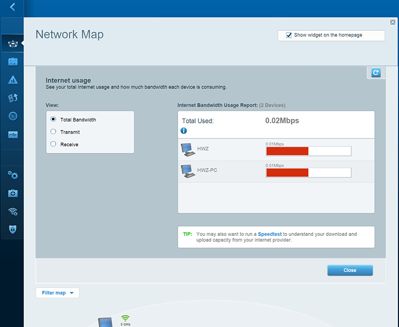 The Network Map functionality has been improved. It now recognizes connected devices better and also shows real-time bandwidth usage.