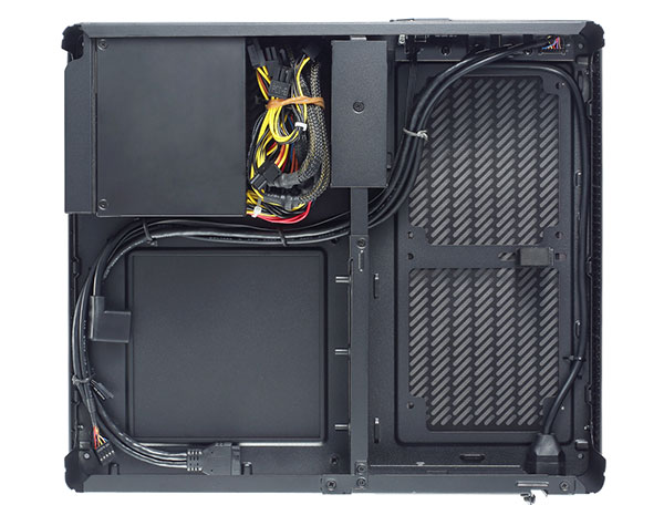 The Node 202 can also be purchased with an Integra SFX 450 PSU. (Image Source: Fractal Design)