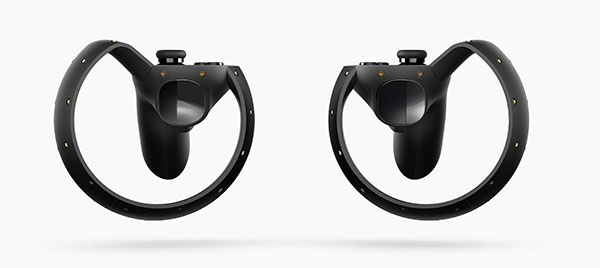 "The Oculus Touch controllers will come as a pair and are meant to simulate ""hand presence"". (Image Source: Oculus)"