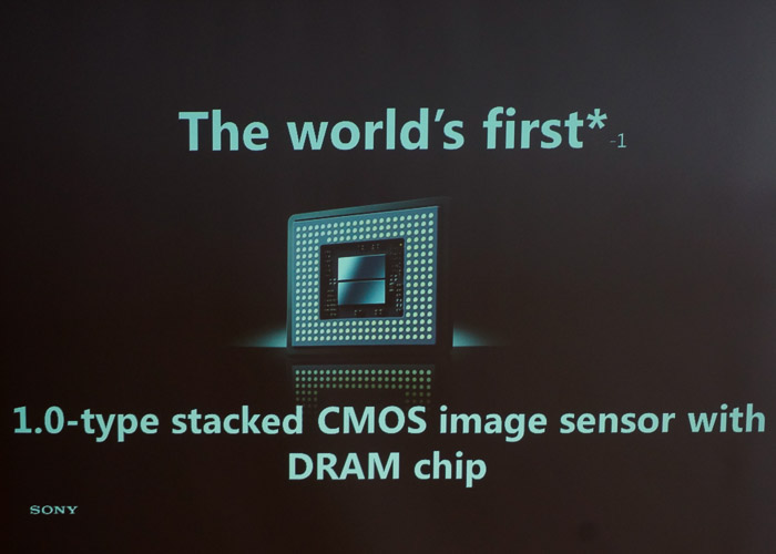 The picture says it all. Sony's got a brand new sensor design!