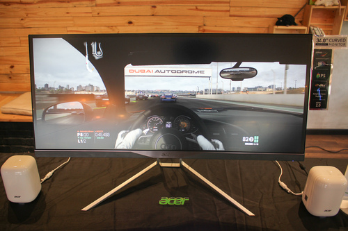 The 34-inch, Acer XR341CK curved monitor.