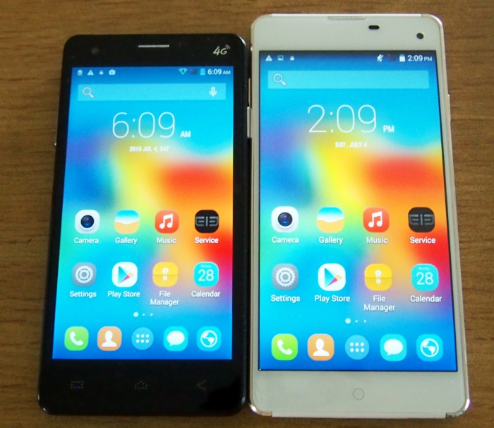 Elephone P3000S (left) and Elephone G7 (right)