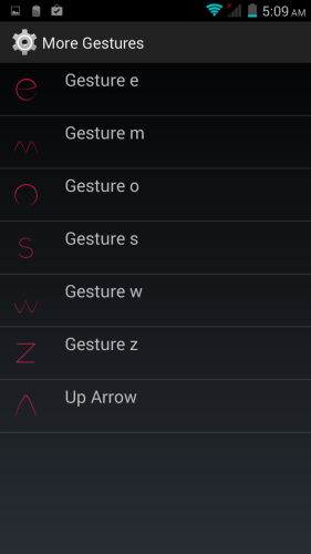 The other gestures can be customized to launch your preferred apps.