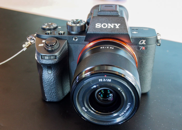 The A7R II looks very much like the A7 II from the front.