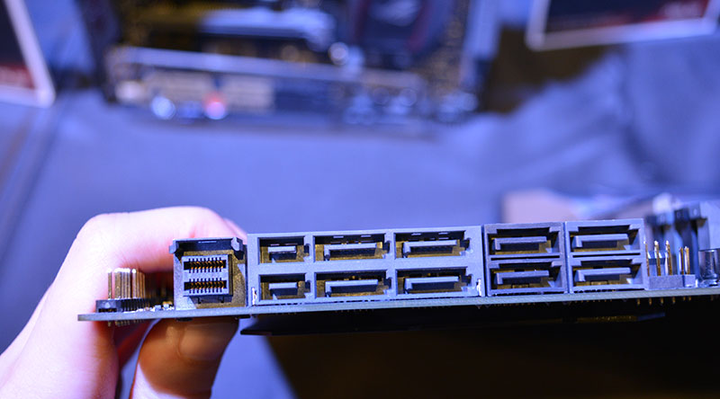 The U.2 connector sits beside the SATA Express ports.
