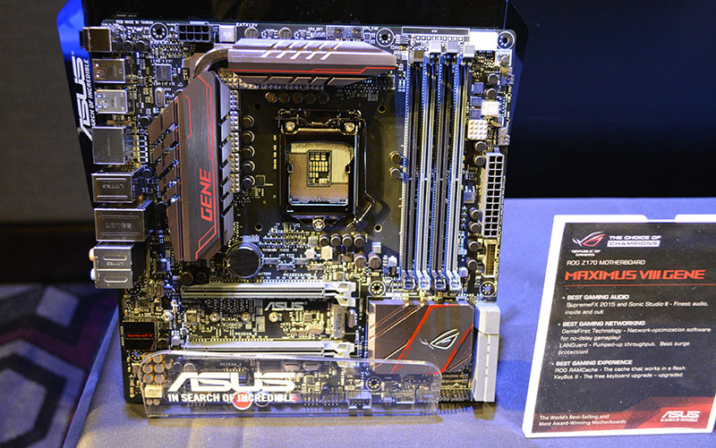 The Maximus VIII Gene is a micro-ATX board that offers ROG features to small system builders.