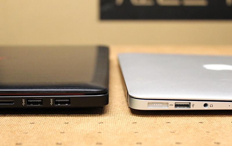 The ROG G501 isn't all that much thicker than a MacBook Air.