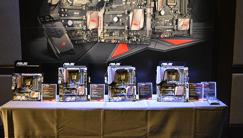 The Z170 ROG motherboards are available in a variety of form factors.