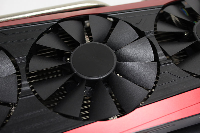 Each fan features a wing-blade design that ASUS says helps increase airflow.