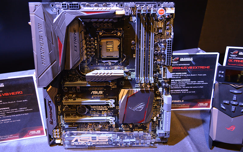 The Z170 Maximus VIII Extreme sits at the top of the ROG line-up.