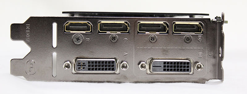 The Gigabyte GeForce GTX 980 Ti G1 Gaming features an additional DVI-D display connector.