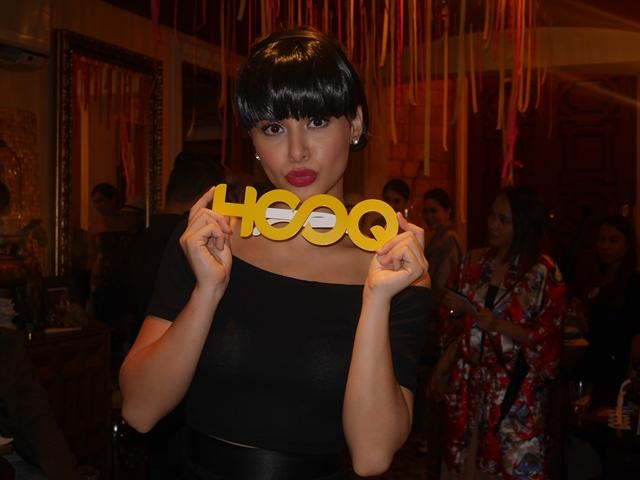 Yassi Pressman, HOOQ's newest brand ambassador, poses in her Anastasia Steele/Audrey Hepburn-inspired costume.