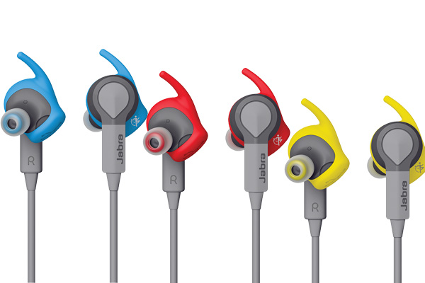 The Jabra Sport Coach comes in three colors - Blue, Red, and Yellow.
