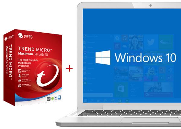 Trend Micro Maximum Security 10 for Windows 10 platforms.
