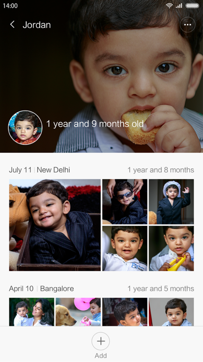 With Baby Album, you can decide on which baby photos to spam your Facebook feed with, at a glance.