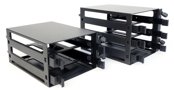 The 2.5--3.5-inch drive cages that are sold as accessories.