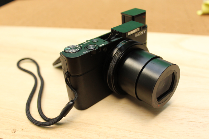 In-built flash and in-built electronic viewfinder unsheathed on the Sony RX100 IV.