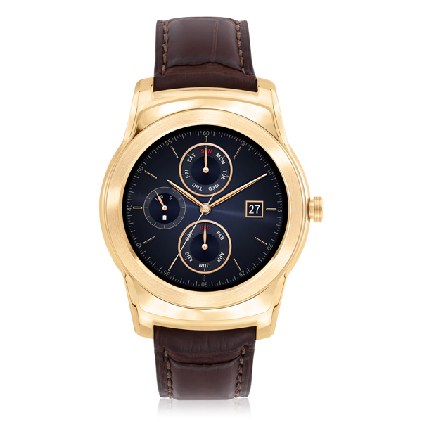 LG Watch Urbane Luxe, with a frame made from 23-karat gold.