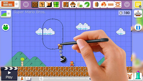 Super Mario Maker features a fairly simple Drag and drop interface.