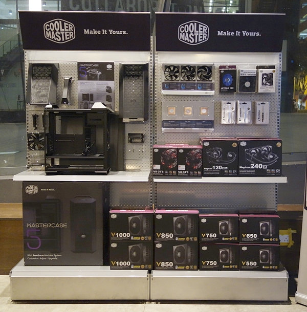A new retail experience according to Cooler Master's concept.