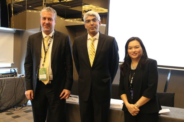 (from L-R): Rohan Langley, Fraud & Money Laundering Detection Specialist of SAS South Asia; Deepak Ramanathan, CTO of SAS Asia Pacific; and Queenie Wong, Practice Lead of Business Analysis Center of Excellence SAS Malaysia.
