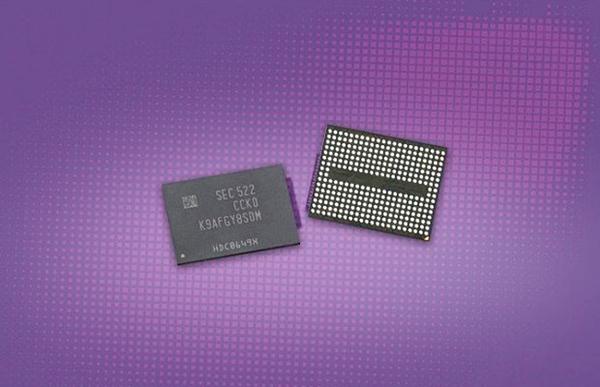 Samsung 256Gb, 3D V-NAND flash memory chips  (Image source: Samsung via TechFrag)
