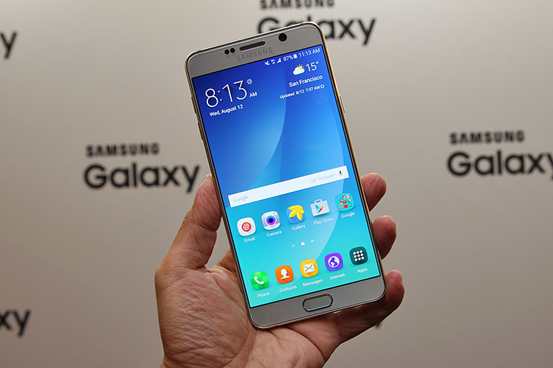 Hands-on with the Samsung Galaxy Note 5 - HardwareZone.com.sg