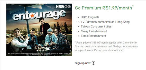 The StarHub Go's Go Premium package that's getting the HBO goodness.