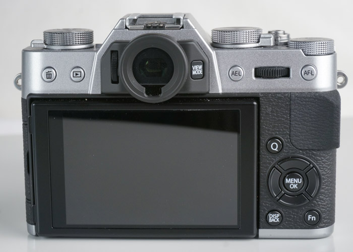 From the rear, the X-T10 is almost indistinguishable from the X-T1.