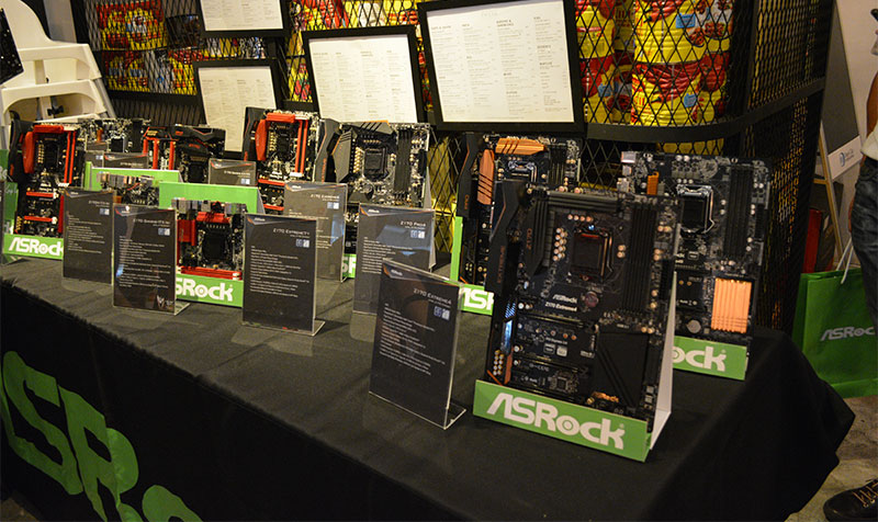 ASRock unveiled its new Intel Z170 motherboards at a launch event on Thursday.