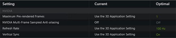 A look at the optimized settings for Dota 2. (Image Source: NVIDIA)