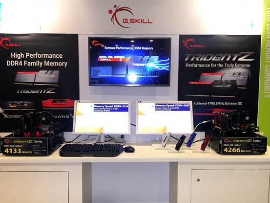 G.Skill demoed two ultra-high speed DDR4 memory kits at IDF 2015. (Image Source: G.Skill)