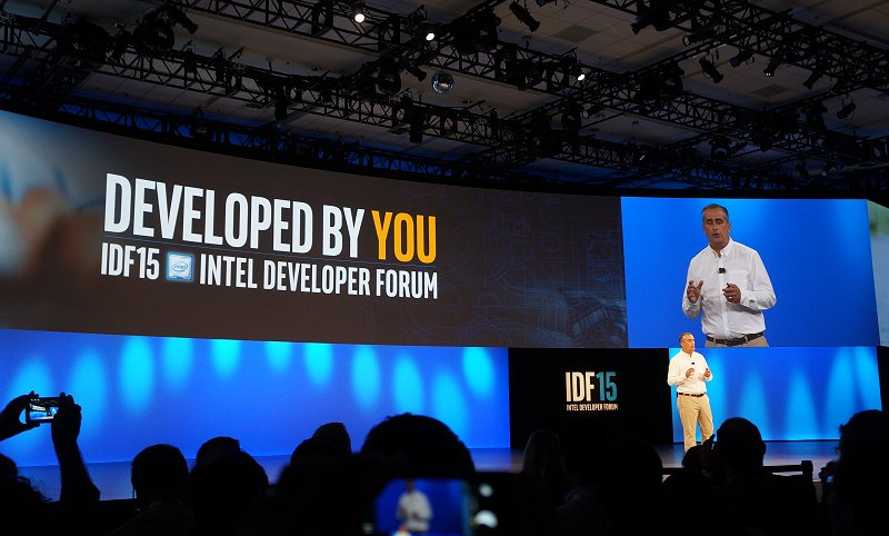 Intel CEO Brian Krzanich chaired the opening keynote session at Intel Developer Forum 2015.