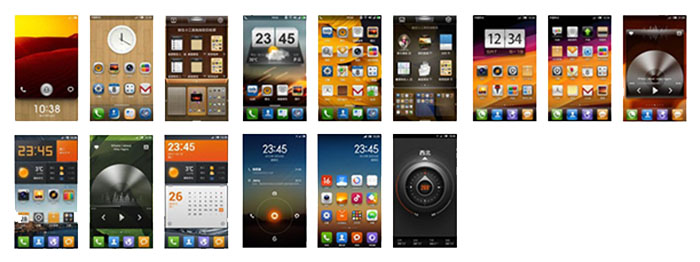 MIUI versions 1 to 5. Source: Xiaomi forums.