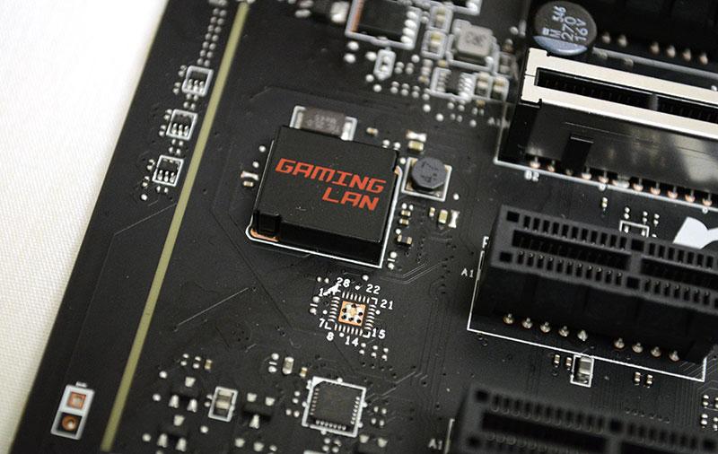MSI's Gaming LAN is powered by a Killer LAN E2400 Ethernet controller.