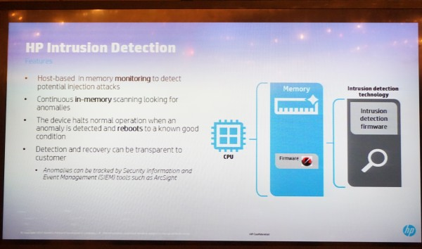 HP's Run-time Intrusion Detection feature. Think of it as anti-virus for your printer.