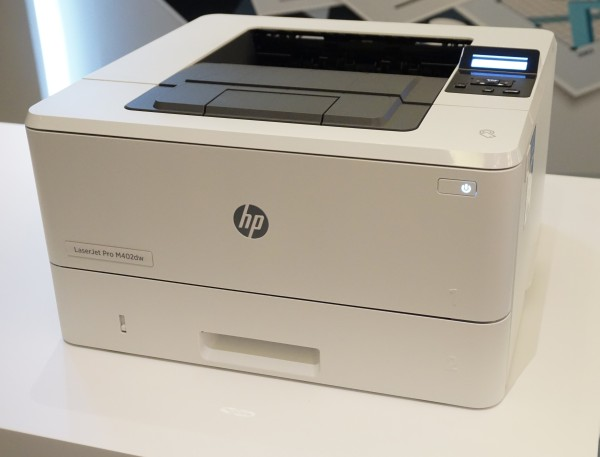 The HP LaserJetPro M402dw was one of the printers that was on display at the event today. Below are the HP Color LaserJet Pro MFP M477fdw and the HP LaserJet Pro MFP M426fdn.