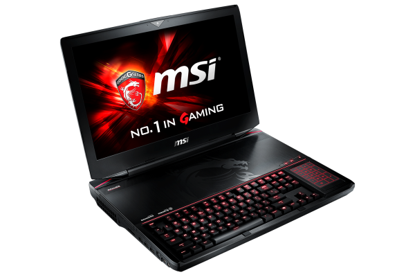 The MSI GT80, in all it's mechanical-keyboard, double 980 SLI glory. <br> Image source: NVIDIA