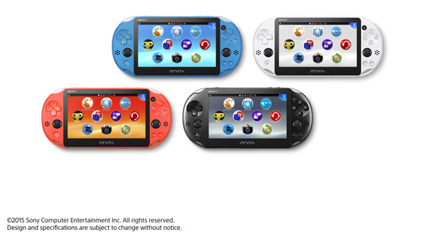 The new PS Vita colors (apart from the Neon Orange) aren't too much different from what Sony's previously did for the PSP.