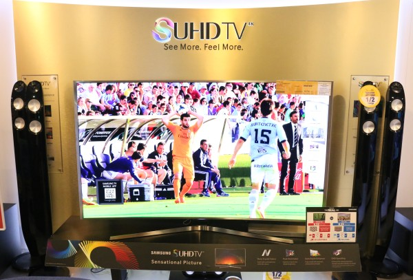 The Courts Superstore at Setapak has a whole range of UHD TVs on display, and that includes Samsung's SUHD TV, Sony's range of Android TVs, as well as LG's Super UHD TV (both pictured below).