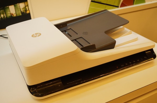 The HP ScanJet Pro 2500f1 and HP ScanJet Pro 3500f1 (below) are the two new ScanJet scanners announced by the parent company during the event.