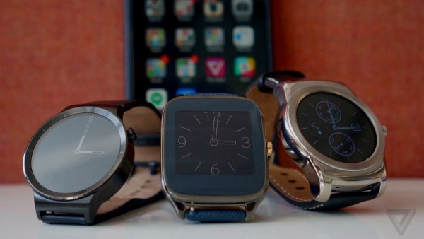 So far, only three Android Wear smartwatches can be paired with the iPhone: the Huawei Watch, the Asus ZenWatch 2, and the LG Watch Urbane. <br> Image source: The Verge.