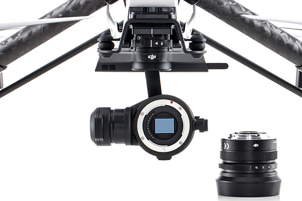 The ZenMuse X5 and X5R offer more lens options thanks to the MFT mount.