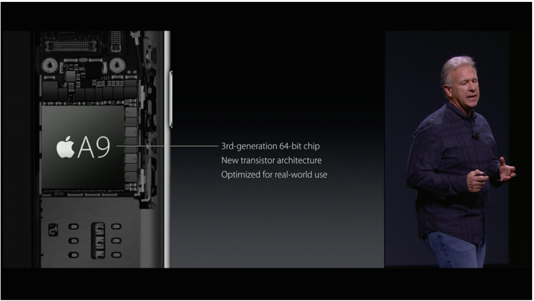 The latest A9 processor with a brief rundown of specs.