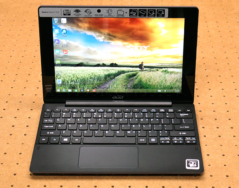 The Acer Switch 10E has a 10.1-inch display that detaches from the keyboard base. It is slightly chunky, but still very portable.