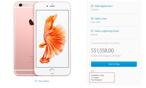 Rose Gold Apple Iphone 6s And 6s Plus A Hit Among Consumers In Singapore Hardwarezone Com Sg