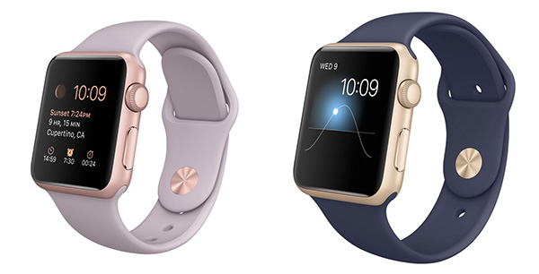 Apple Watch: New gold and rose gold aluminium Watches