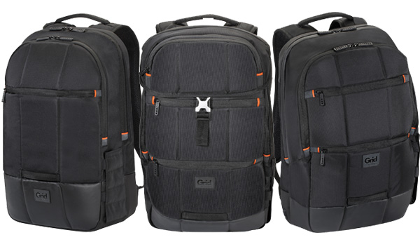 The Grid series backpacks are built to military standard.
