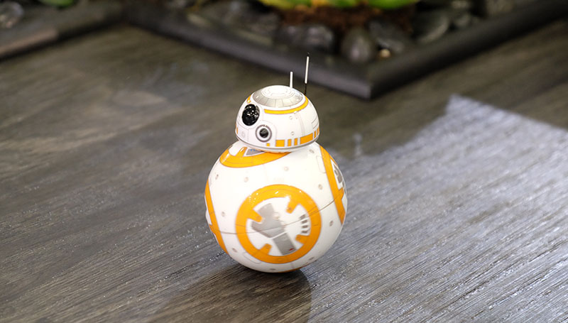This cute little guy is the BB8 droid. Essentially a Sphero (he's made by the same company) with a droid head stuck on top, the BB8 is an officially licensed version of the rolling droid from the upcoming Star Wars: The Force Unleashed movie. BB8 costs US$149. Here's a quick video of him in action:
